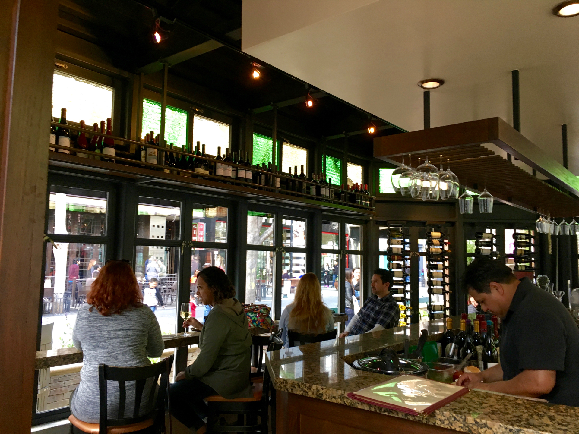 Inside Vintage Wine Bar on Santana Row in San Jose.