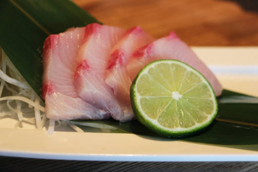Hamachi (Yellowtail) sashimi at Ding