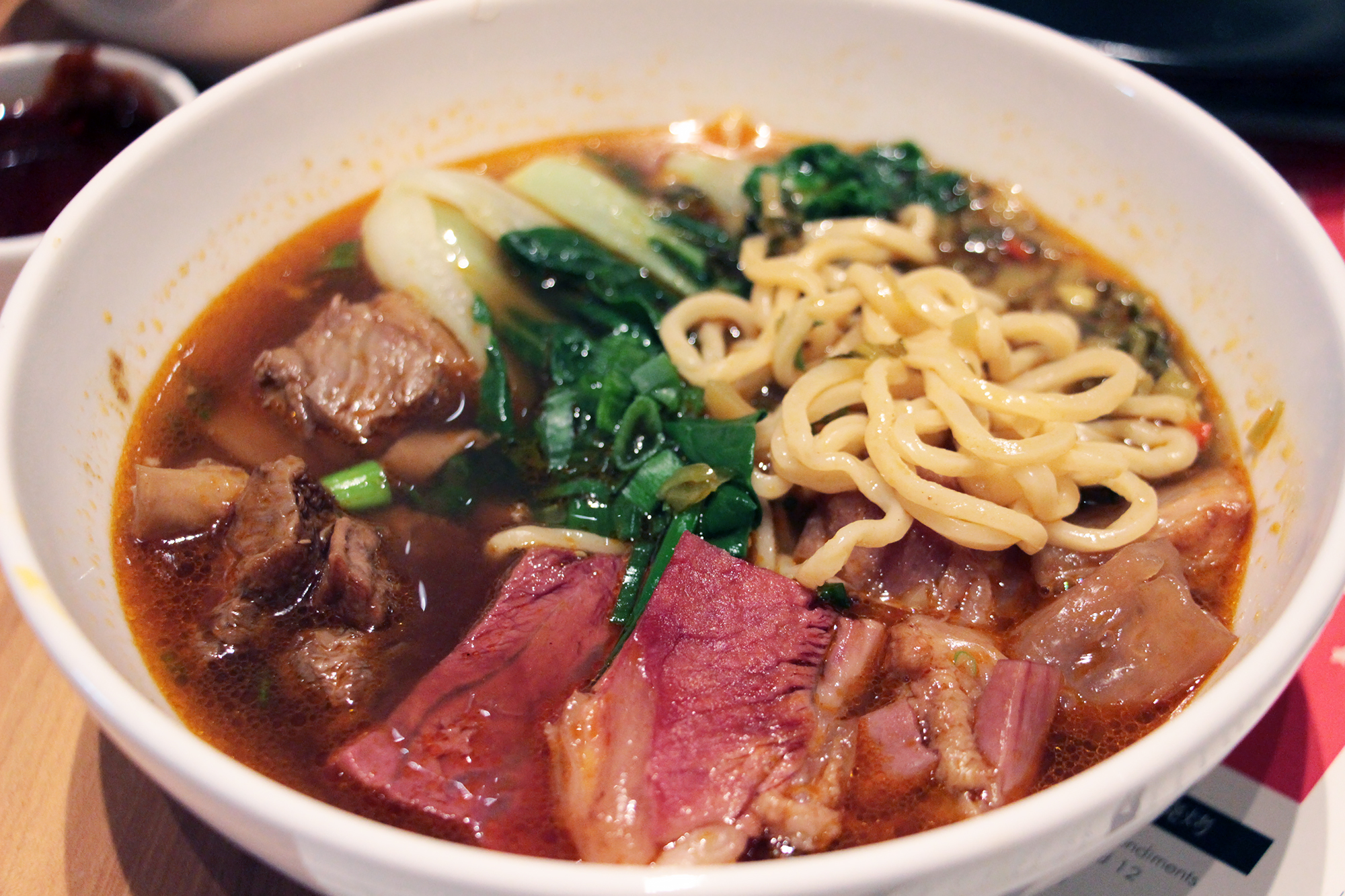 Taipei Braised Beef Noodle Soup - Brisket/Tendon, Red Broth at China Live.