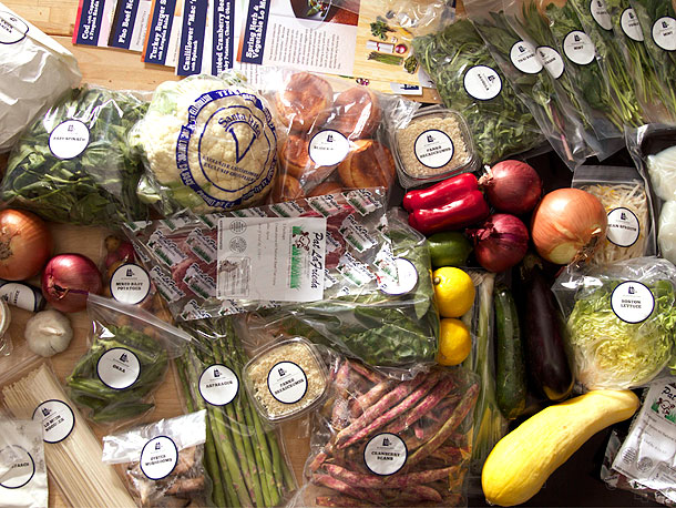 A Blue Apron unboxing photo