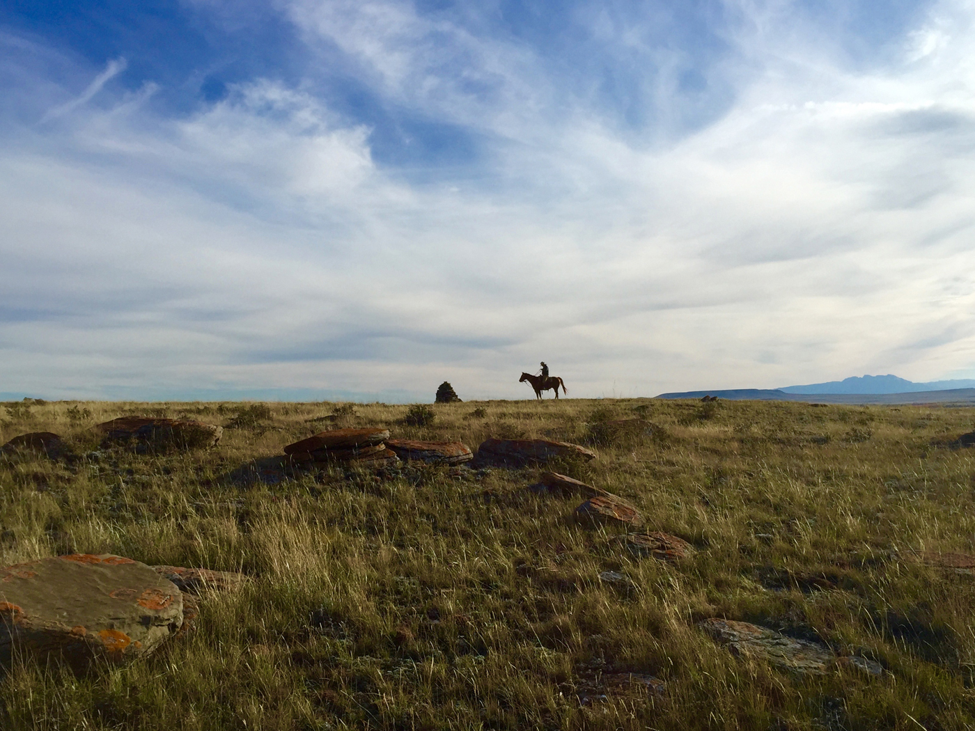 Dusty Crary visits his father's grave; Rancher, Farmer, Fisherman