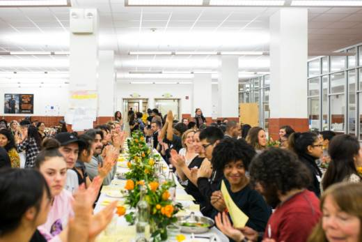 "Nourish/Resist's ""Unpresidented Meal"" took place in the Mission High cafeteria."