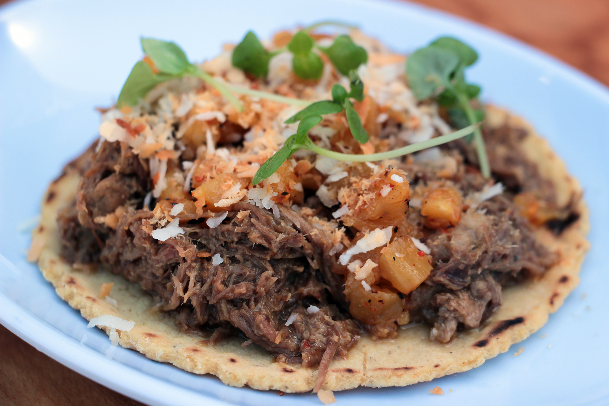 Thai Red Curry Beef taco
