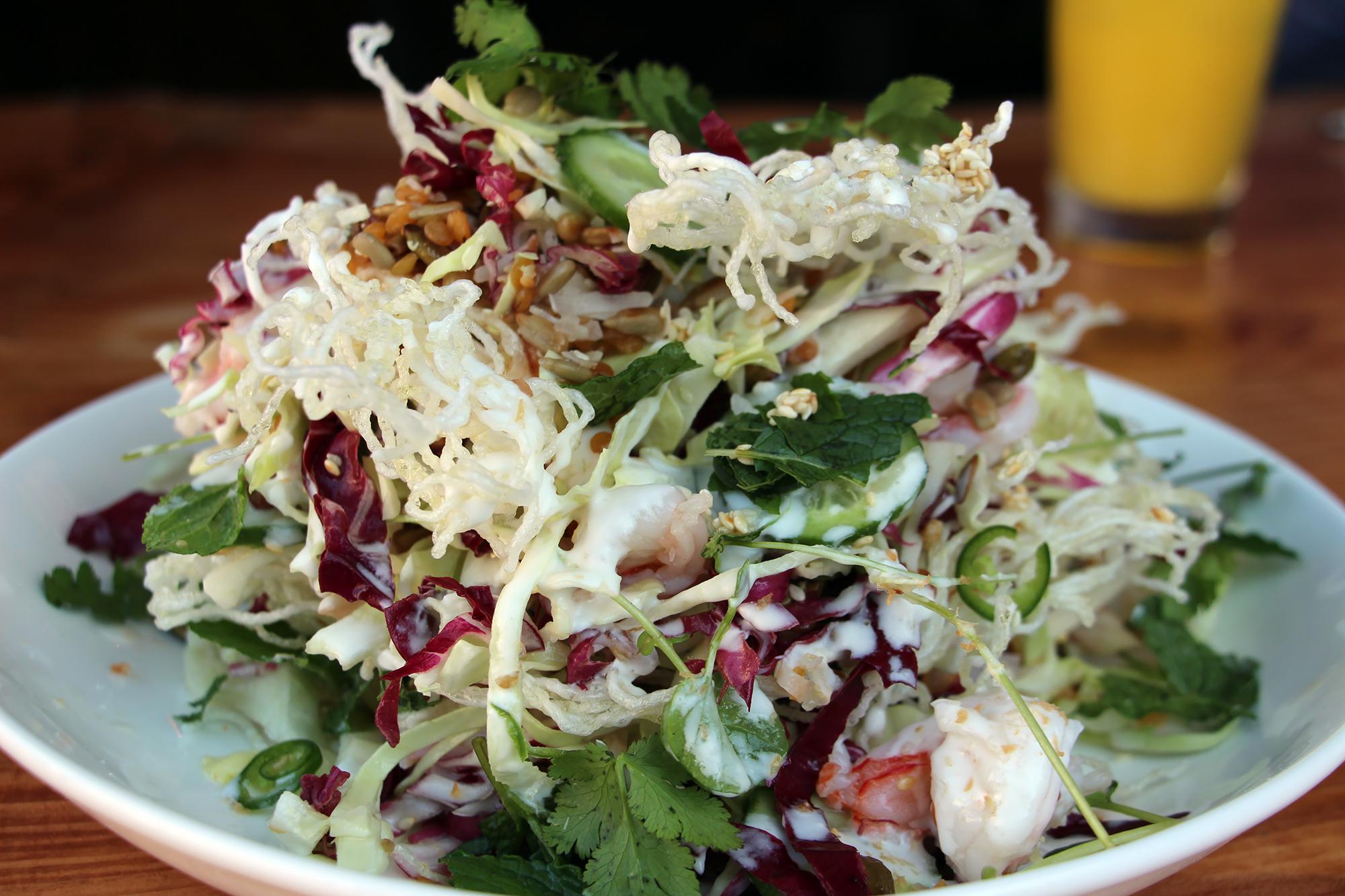 Crispy Noodle Shrimp Salad.