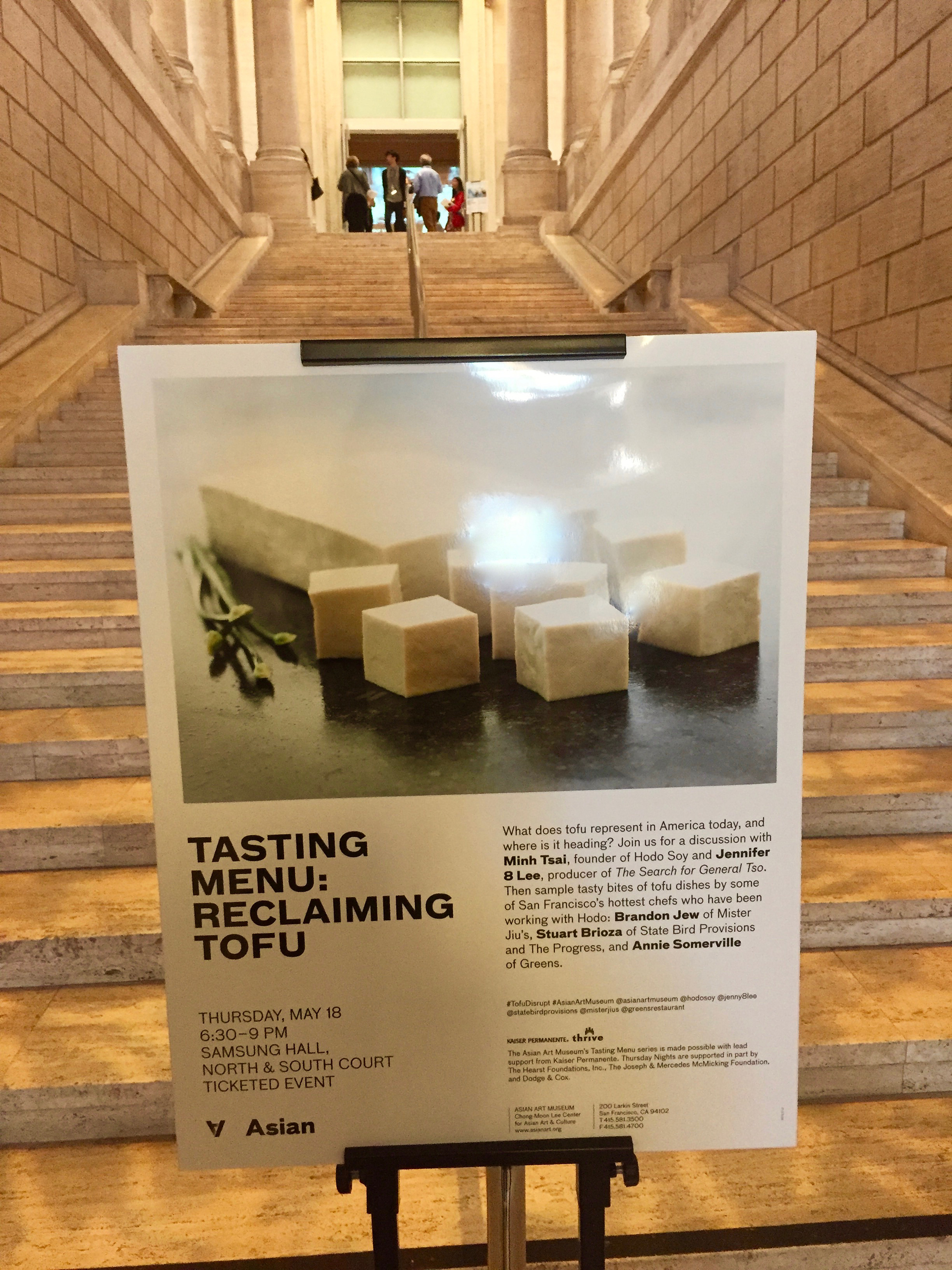 The San Francisco Asian Art Museum hosts periodic Tasting Menu programs, inviting patrons to make the connection between food and art.