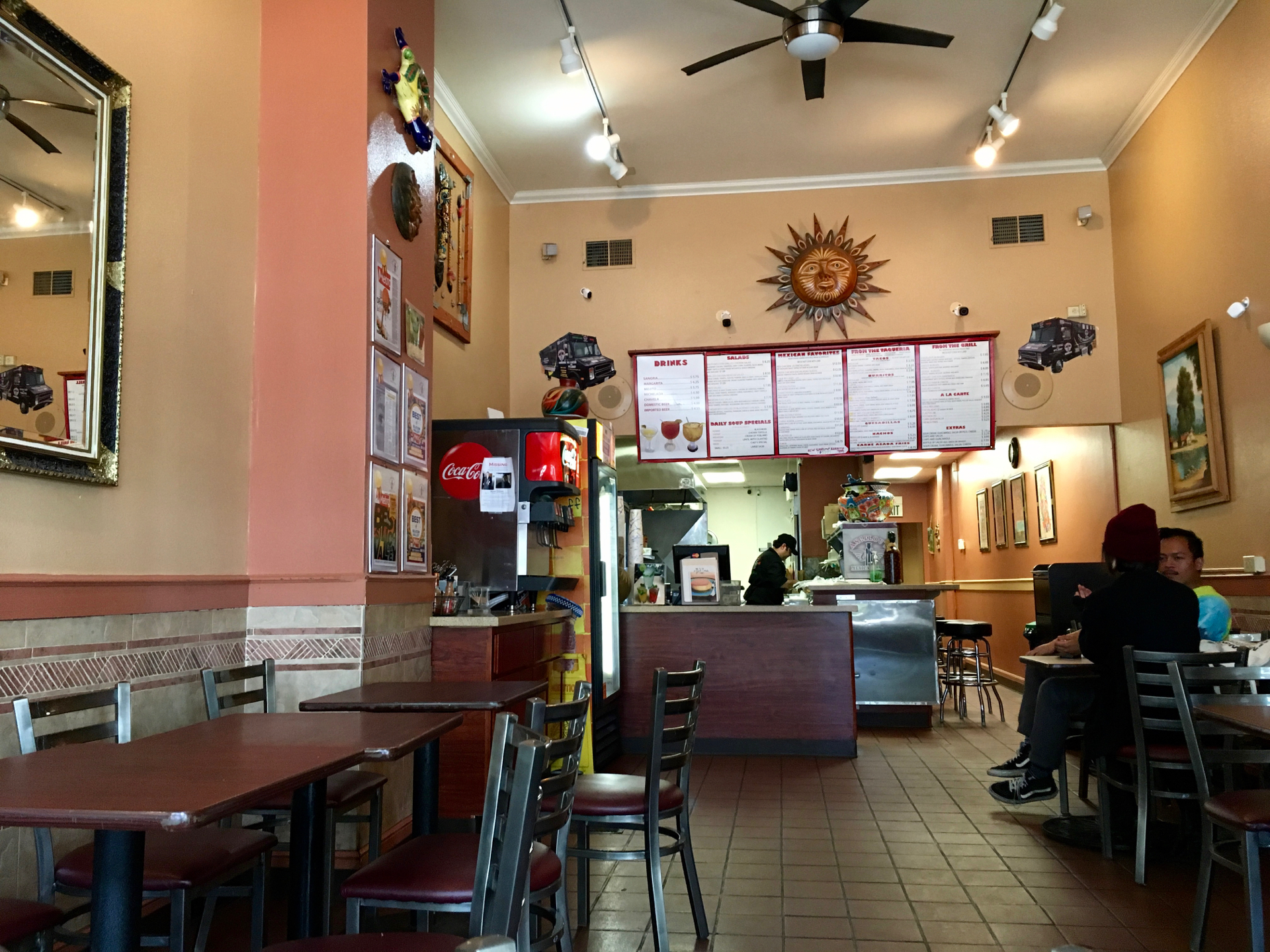 Inside Angelou's Mexican Grill in downtown San Jose.