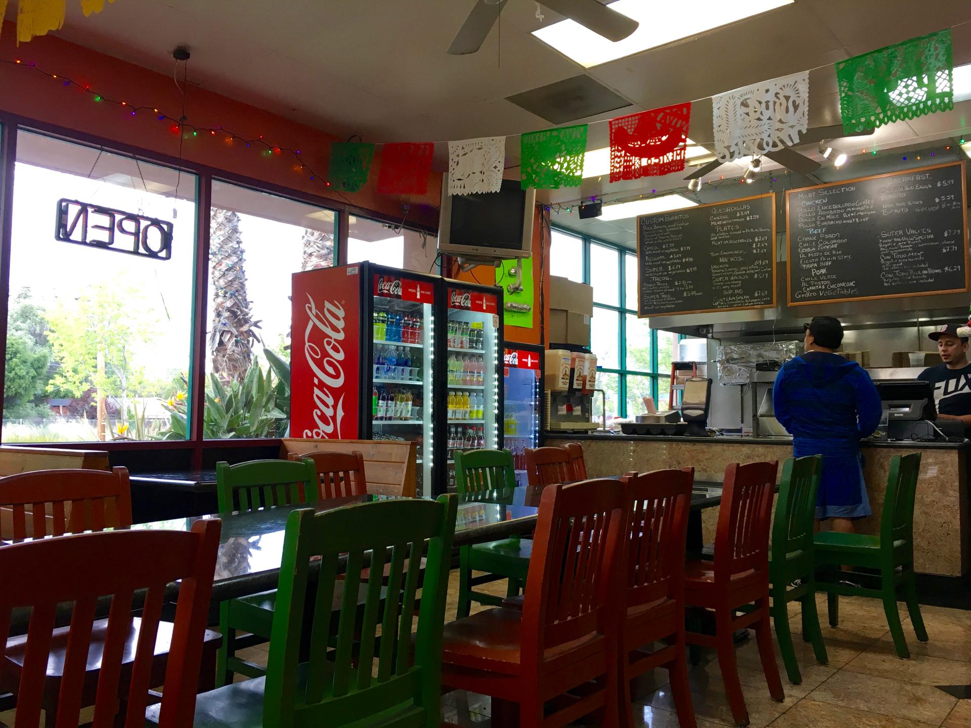 Inside La Costena Mexican Grill in Mountain View.
