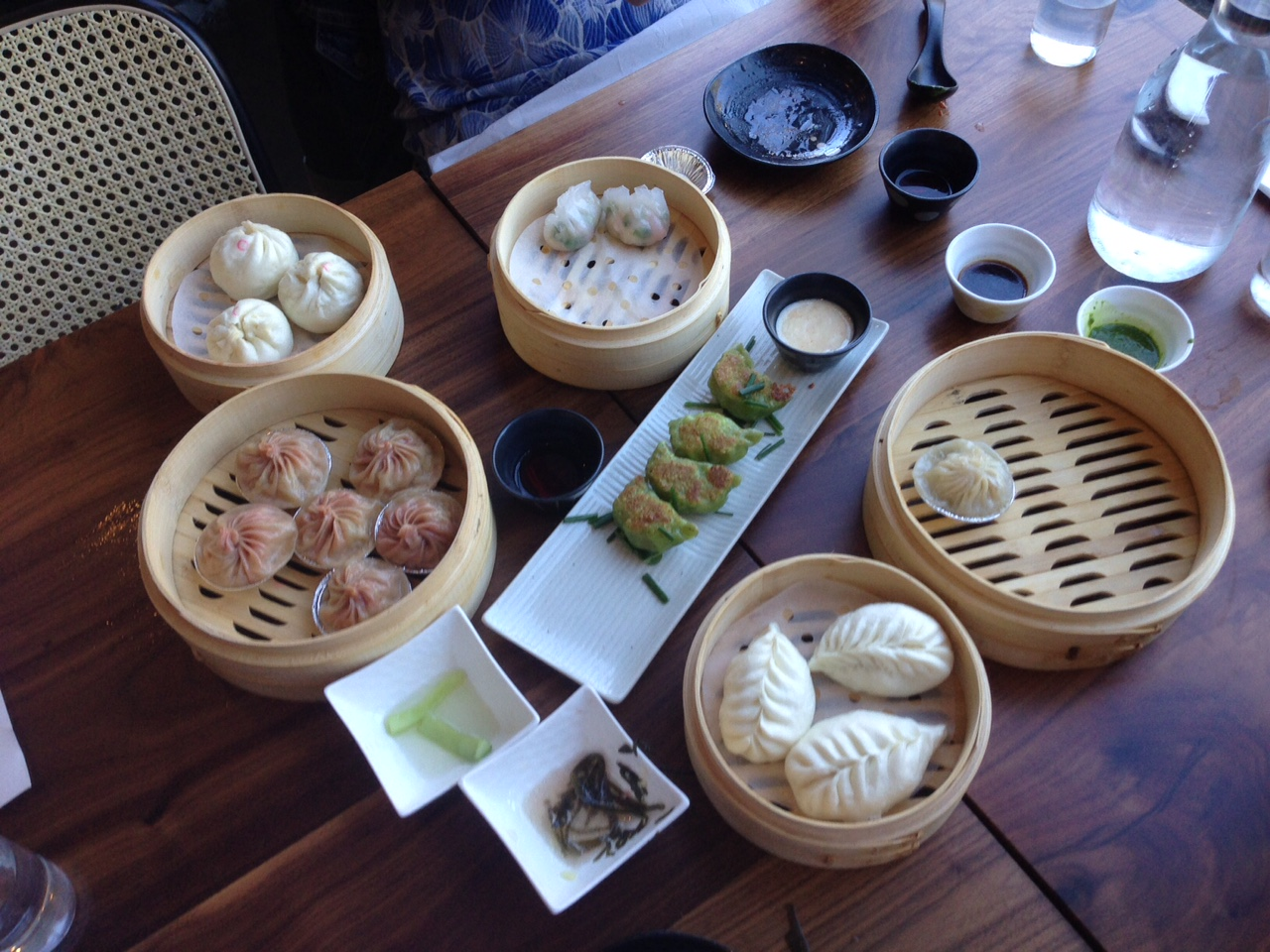 A variety of dishes at Dumpling Time.