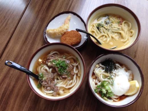 Kagawa-Ya Udon Noodle Company dishes.