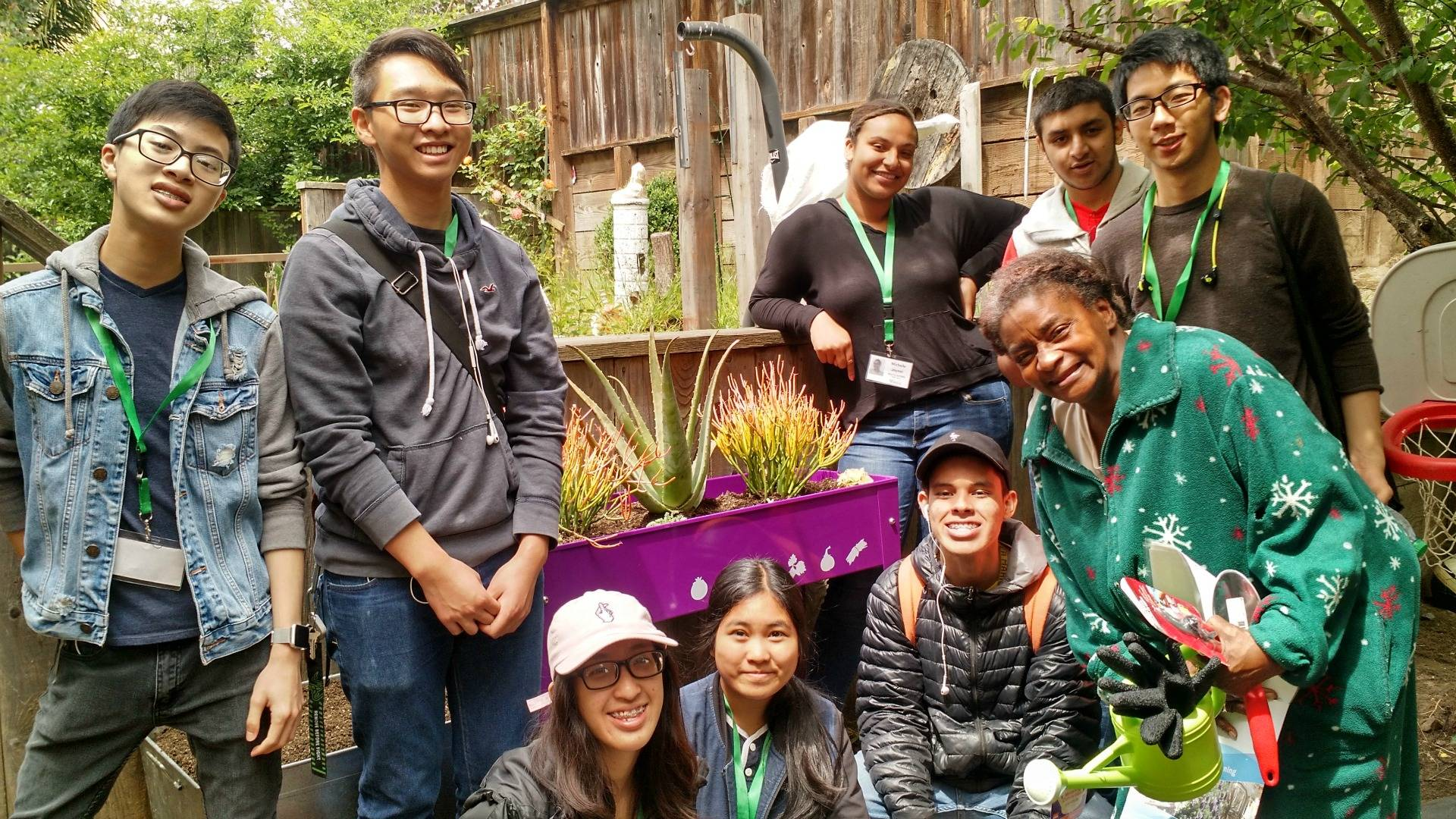 Participants in CommunityGrows' BEETS teen entrepreneur program learn how to build and maintain gardens, as well as other career development skills.  CommunityGrows