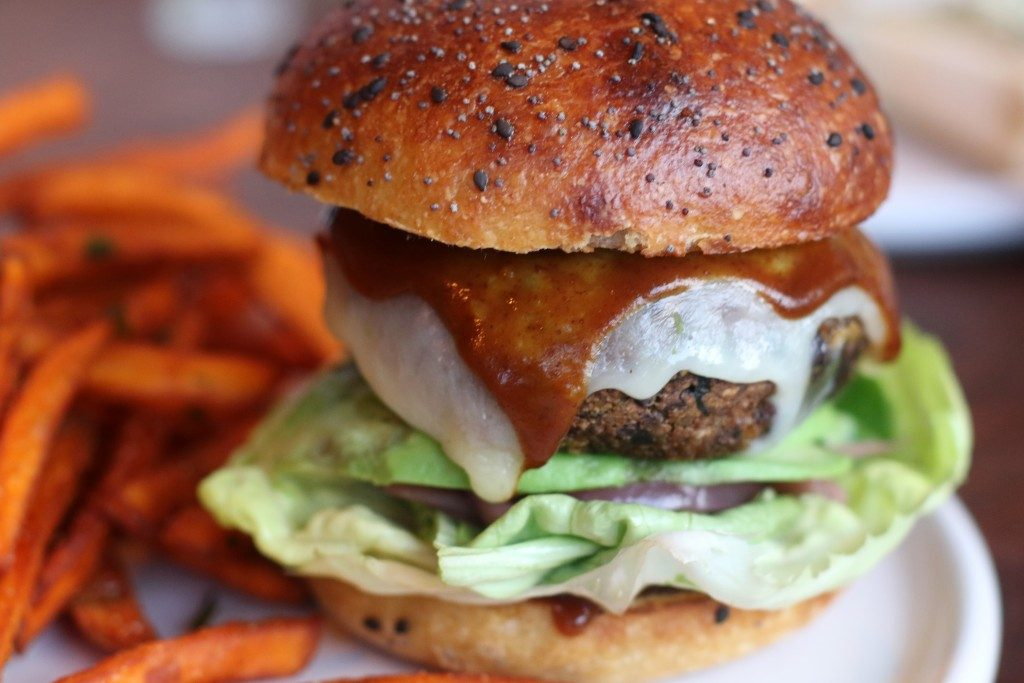 Vegan Barbecue Burger, The Drawing Board, Petaluma