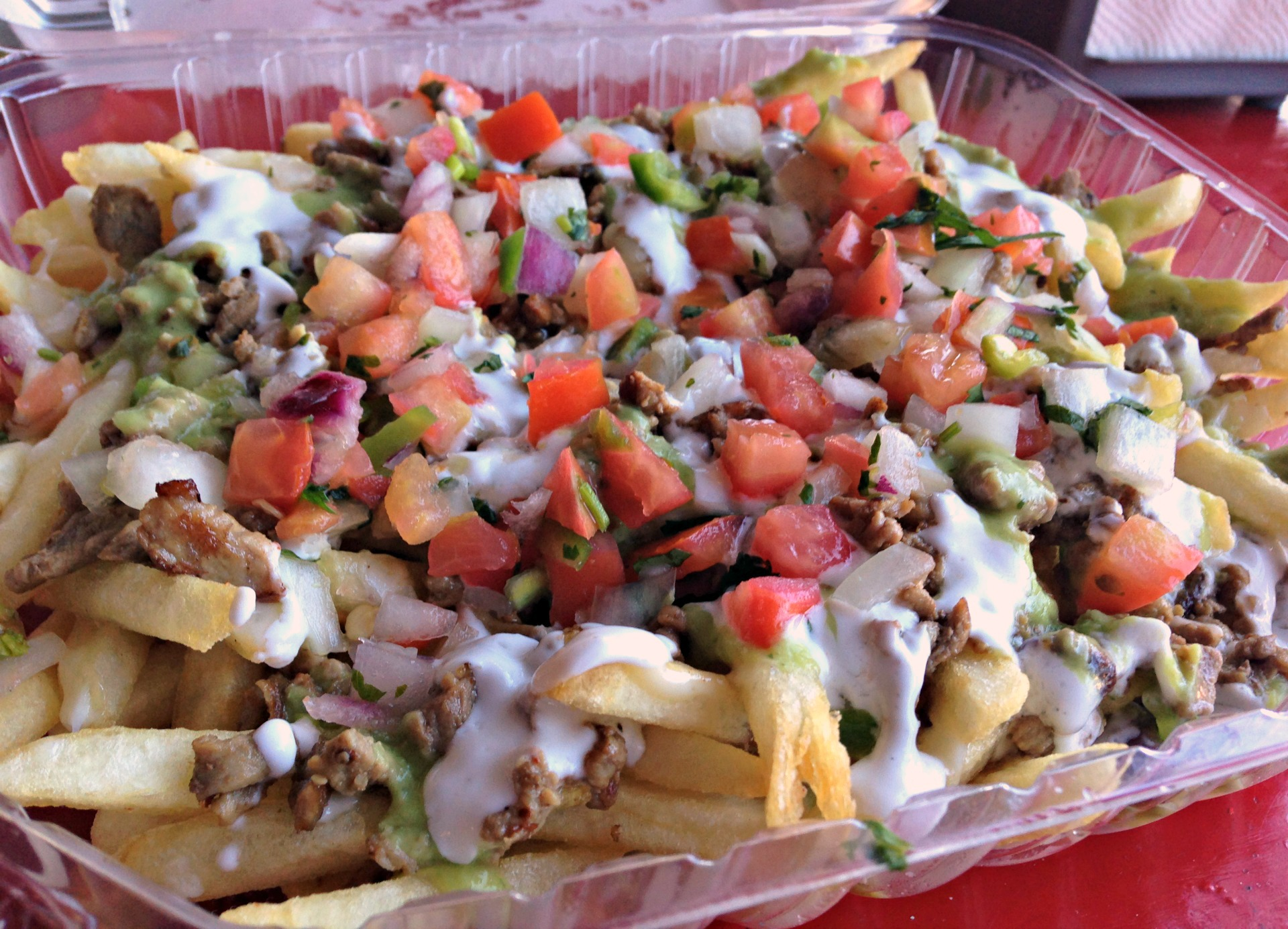 Carne asada fries from Taqueria La Estrella in Richmond.
