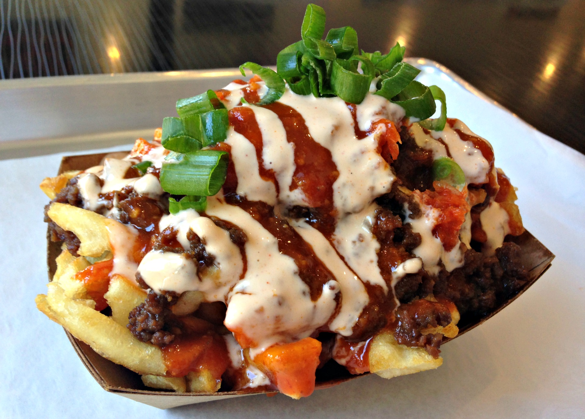 Try the Kamikaze Fries from one of KoJa Kitchen's many Bay Area locations.