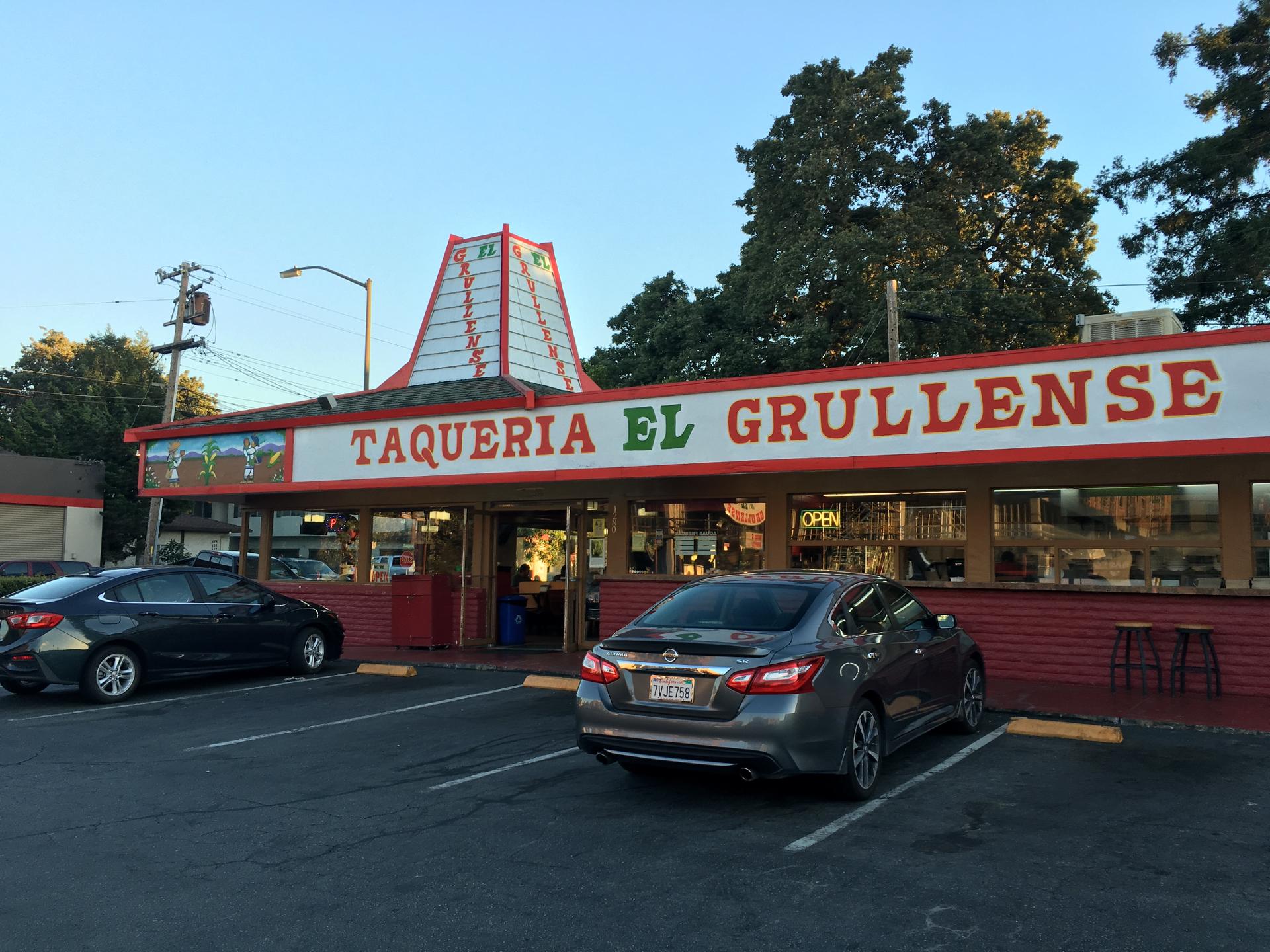 Outside Taqueria El Grullense in Redwood City.