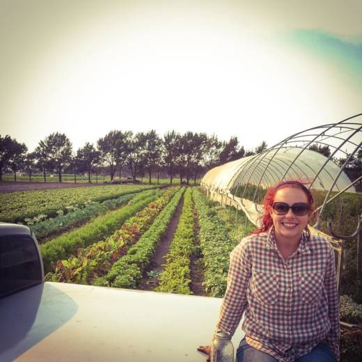 Brittany Loisel is shown at Lazy Millennial Farms in Salinas.