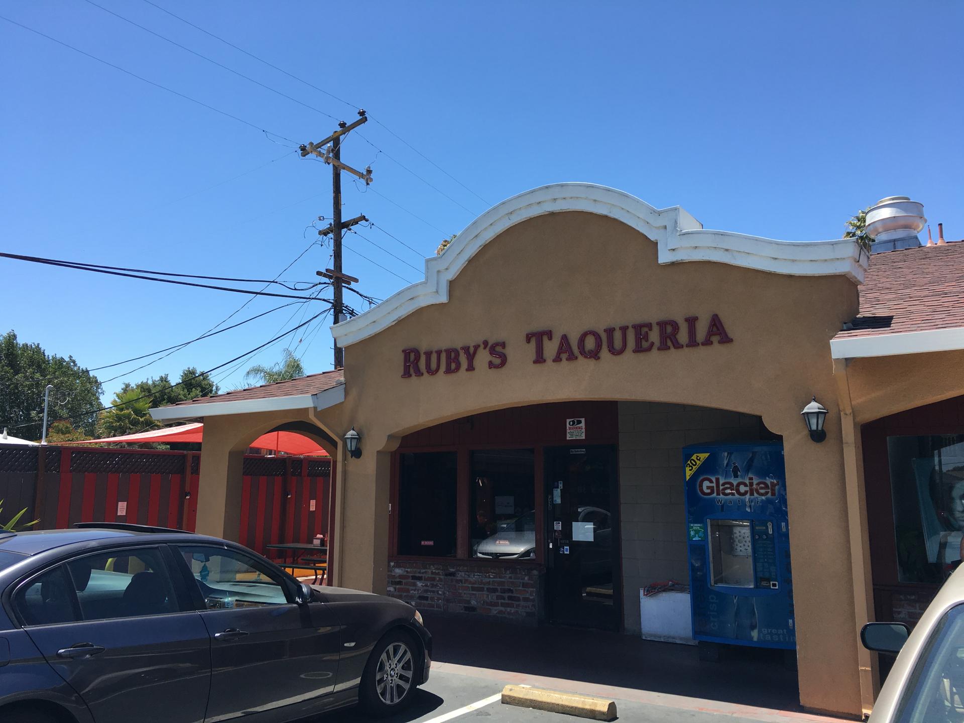Outside Ruby's Taqueria in Sunnyvale.