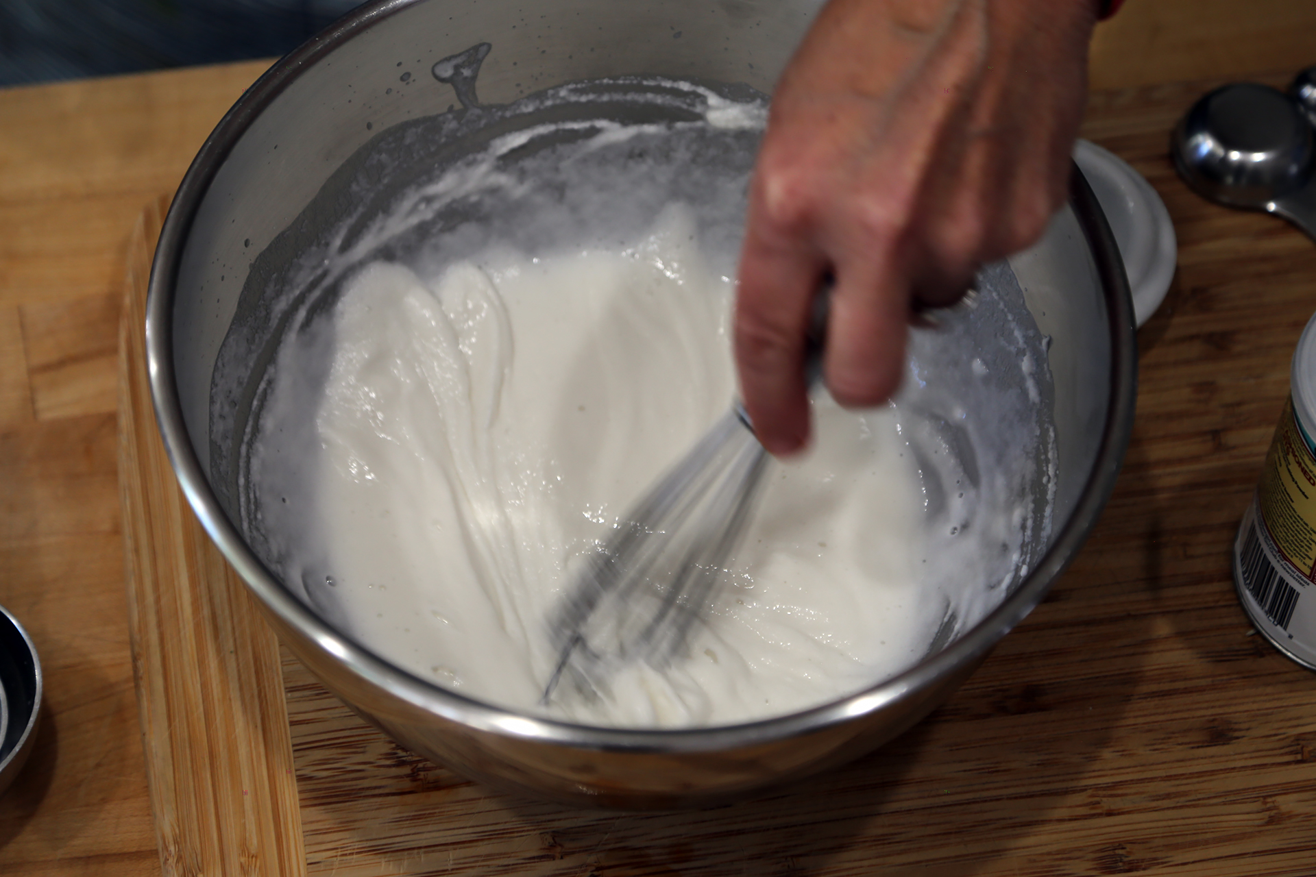 The batter should have a smooth consistency.