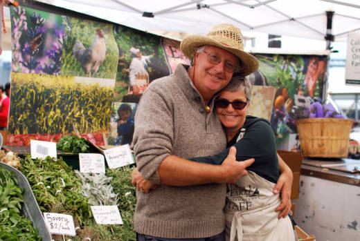 Nigel met his wife Lorraine at the farmer's market; she worked for another vendor at the time they met.