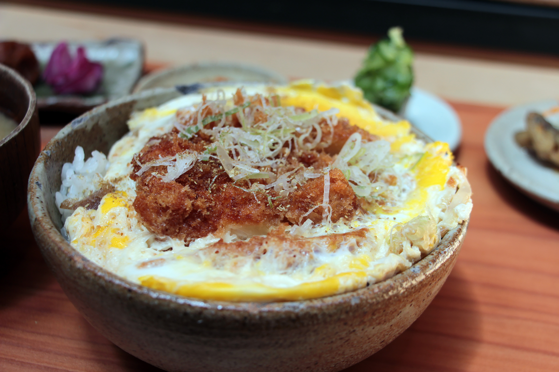 Rintaro Fried Chicken Katsu Cooked with Riverdog Egg and Sweet Dashi Over Rice