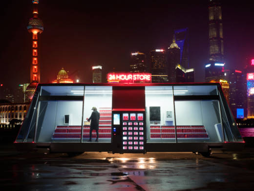 A prototype Moby Mart is being tested in Shanghai. Per Cromwell, the project's lead designer, says four to six additional mobile supermarkets are planned in the coming year.