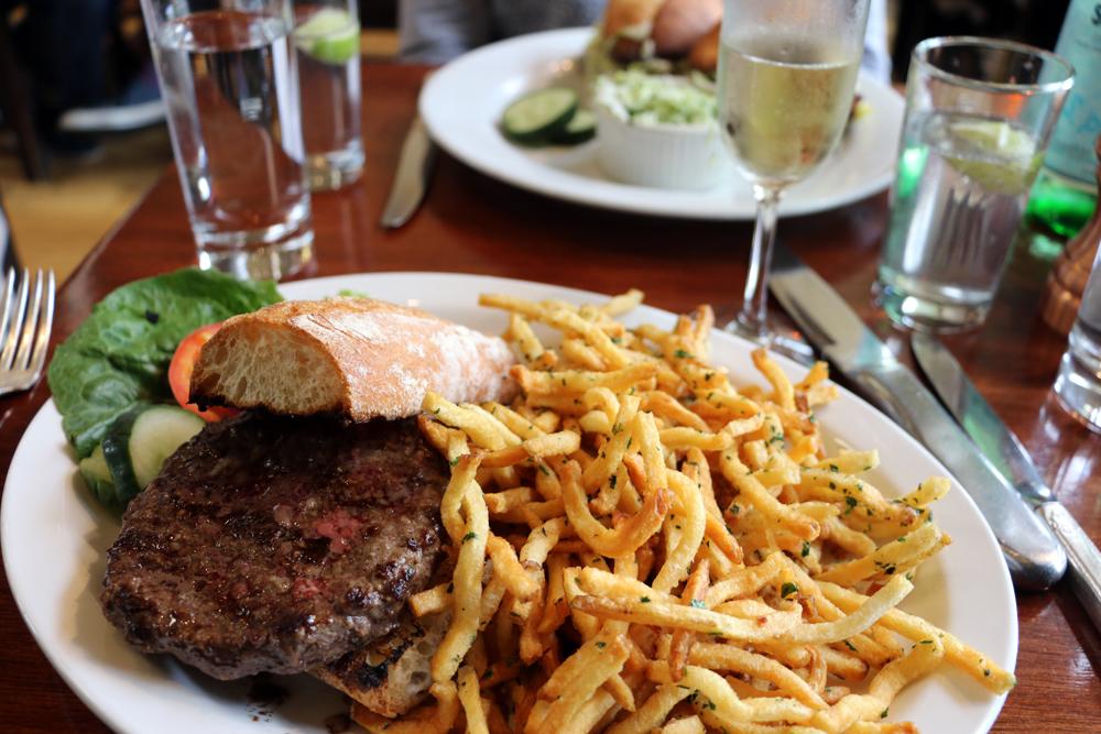 Wood Tavern burger.