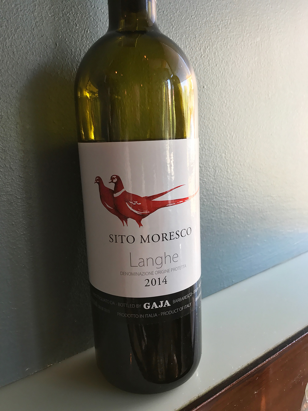 A Gaja Langhe from the well-selected list of Italian red wines.