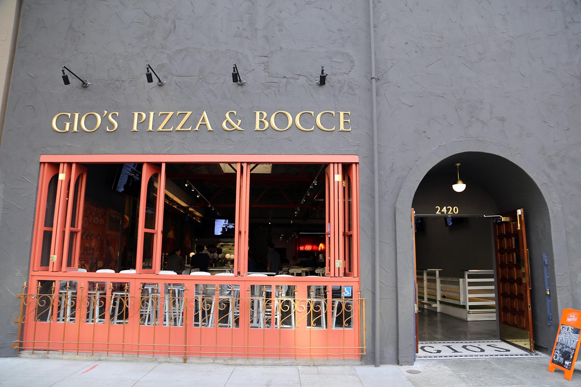 Gio's Pizza & Bocce exterior