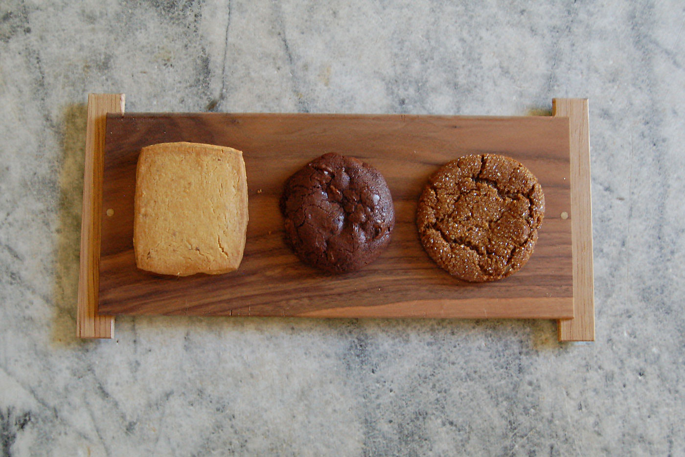 Cheese Board's Hazelnut Butter, Double Chocolate and Ginger cookies