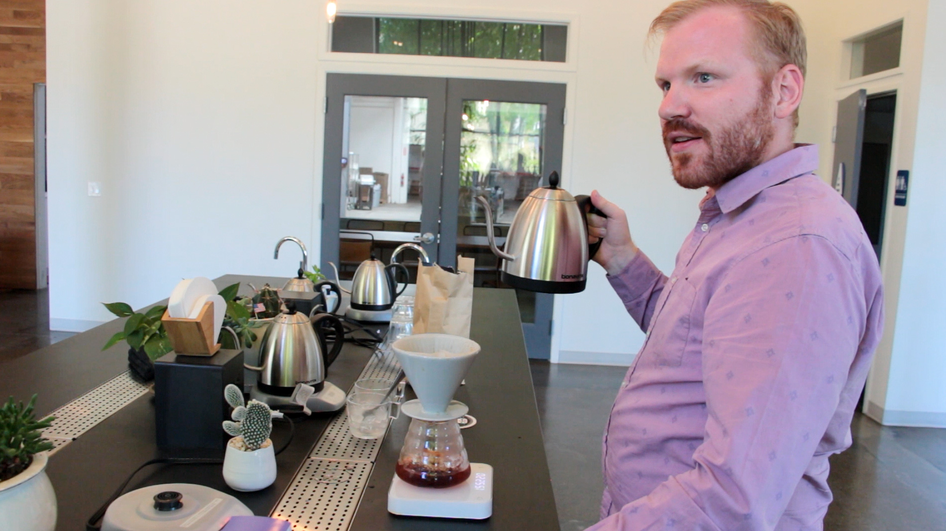 Counter Culture Coffee's Jesse Bladyka recommends flash brewing because he considers it a better way to express the complex flavors of their coffees.