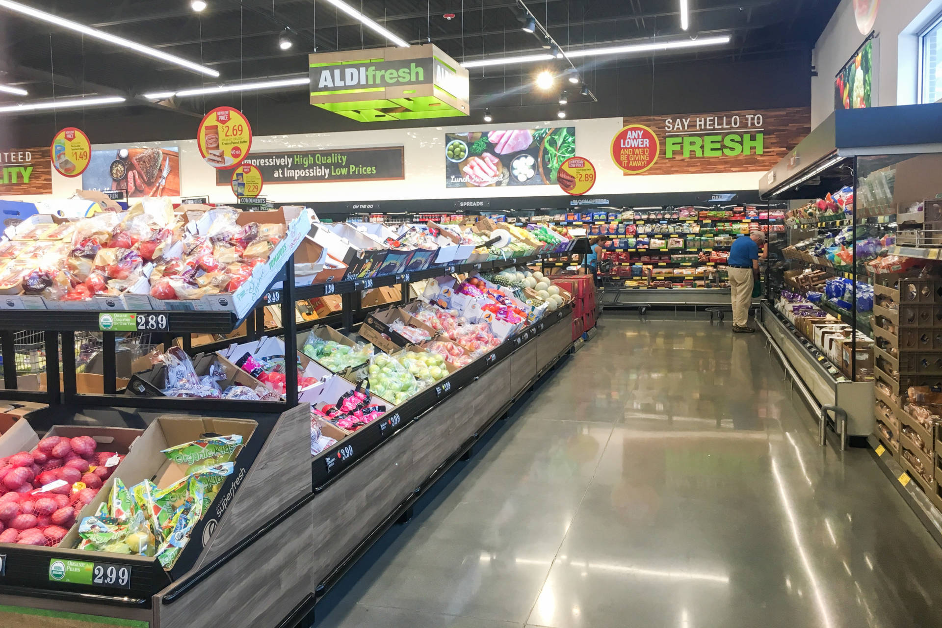 Aldi, which has been in the U.S. since the 1970s, has been updating its look and product selection, adding more fresh produce, among other things.