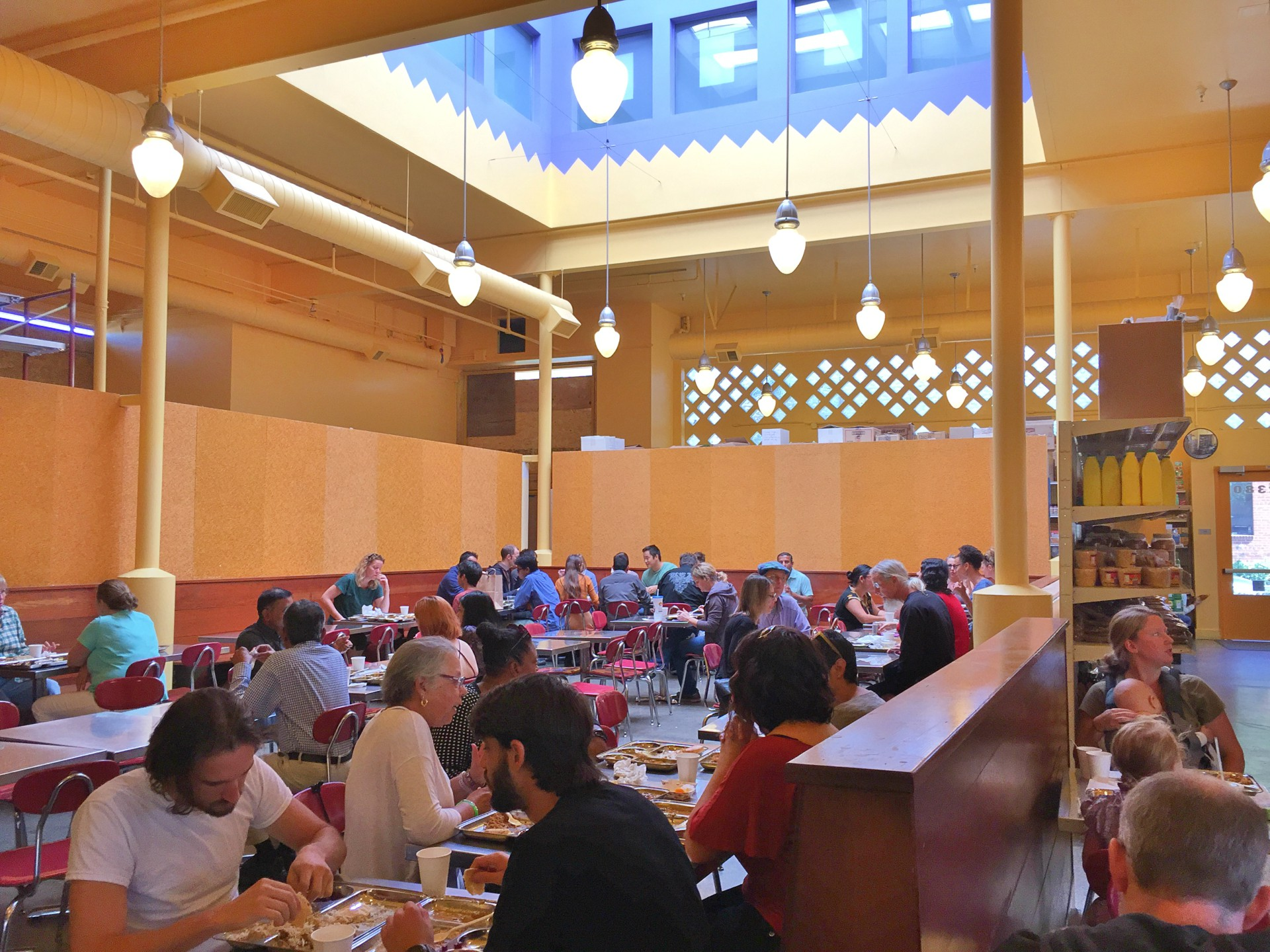 Popular Indian restaurant Vik's is housed in a building with several sustainable features, including skylights to moderate temperature instead of air conditioning.