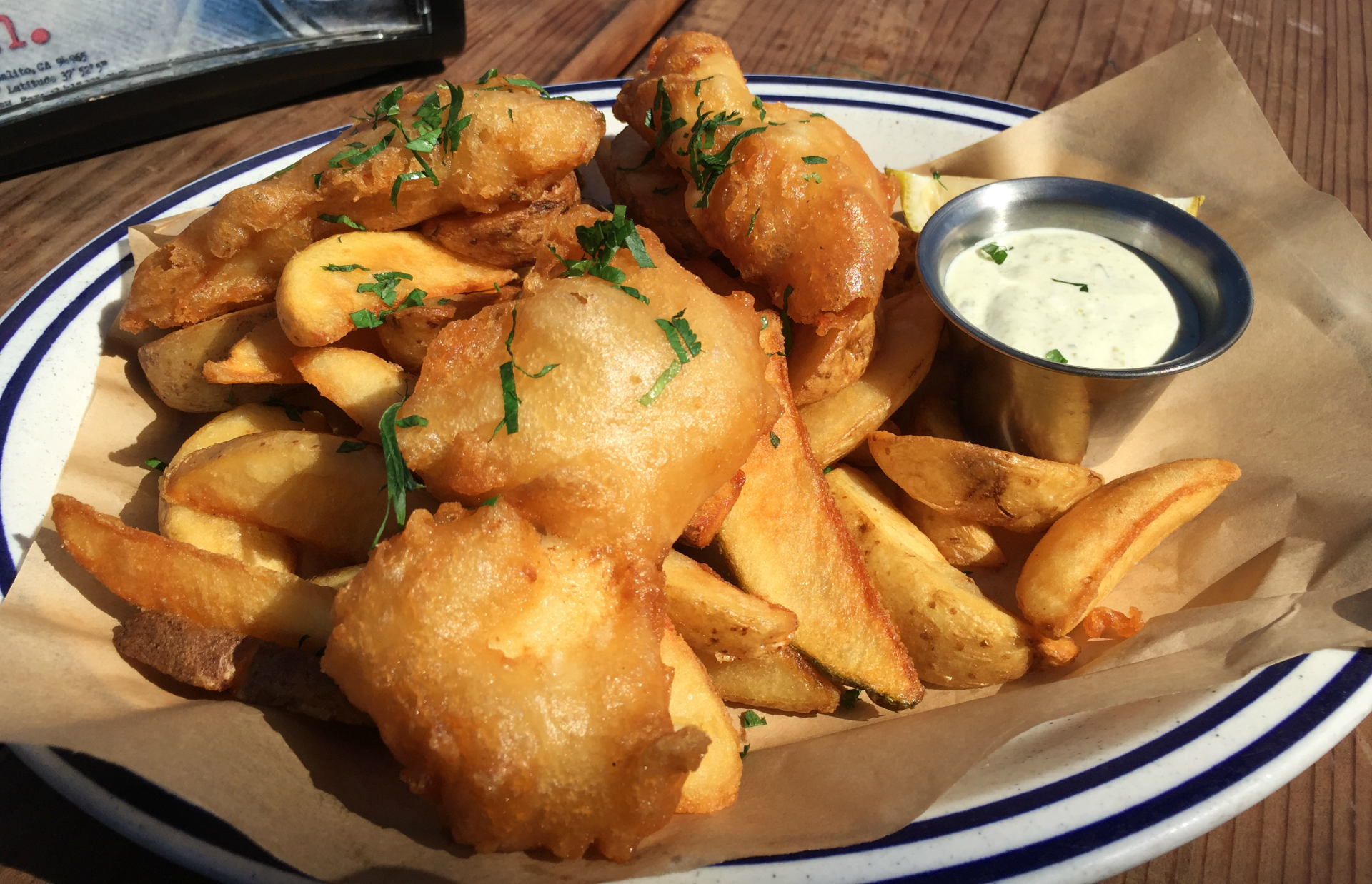 The fish and chips at Fish featured local cod.