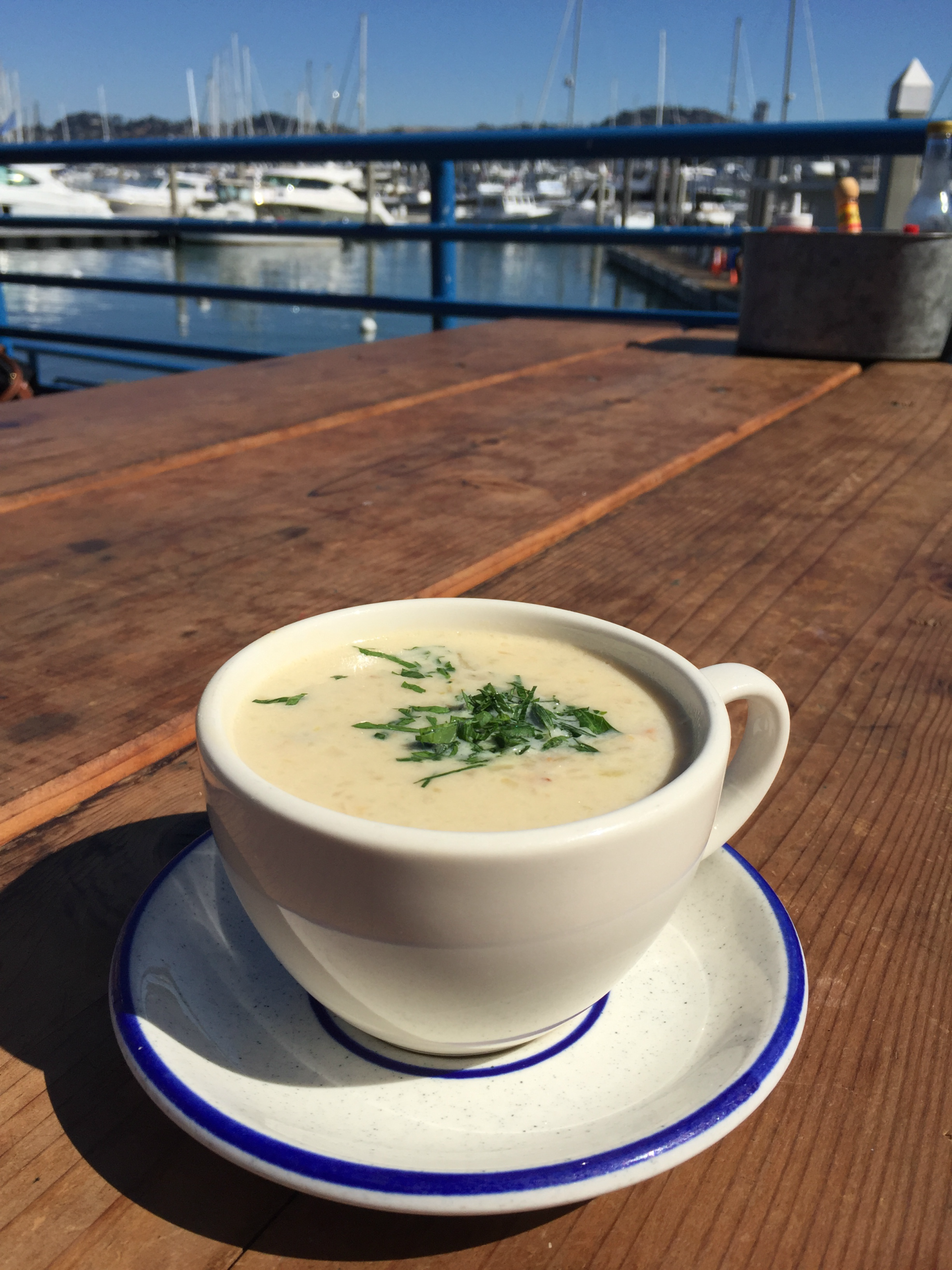 Clam chowder from Fish.