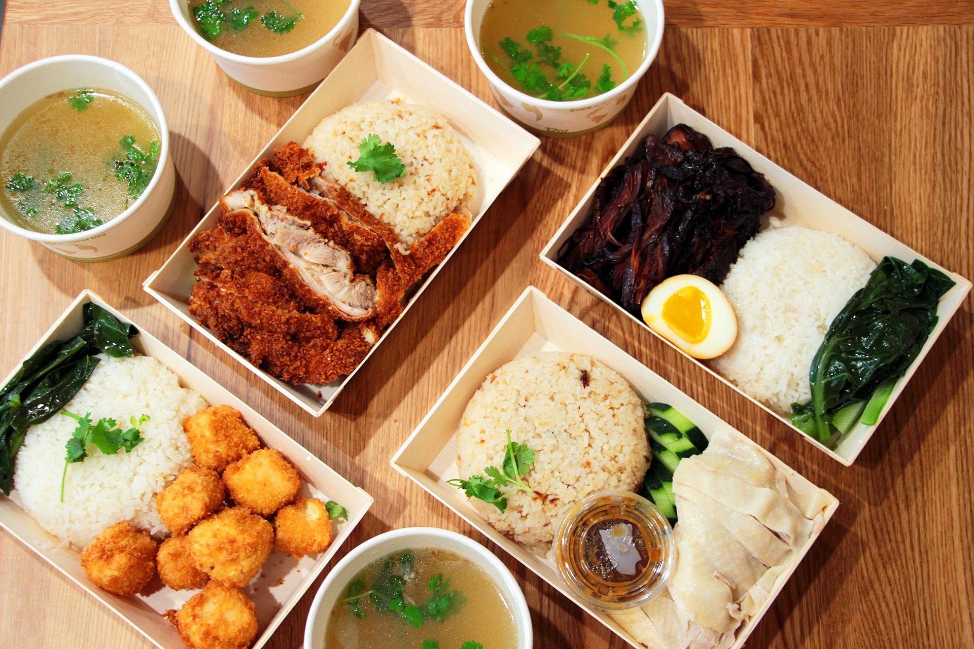 All menu items at Chick'n Rice