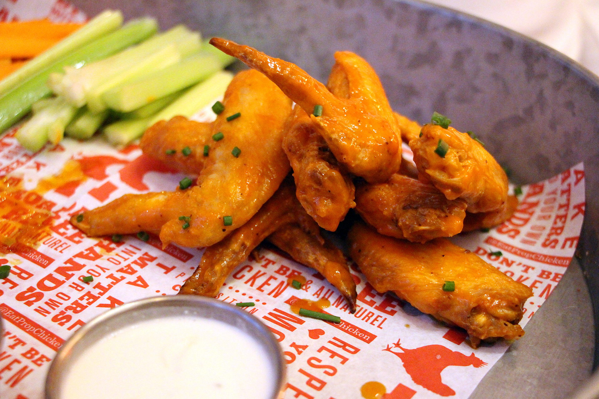 The buffalo wings at Proposition Chicken