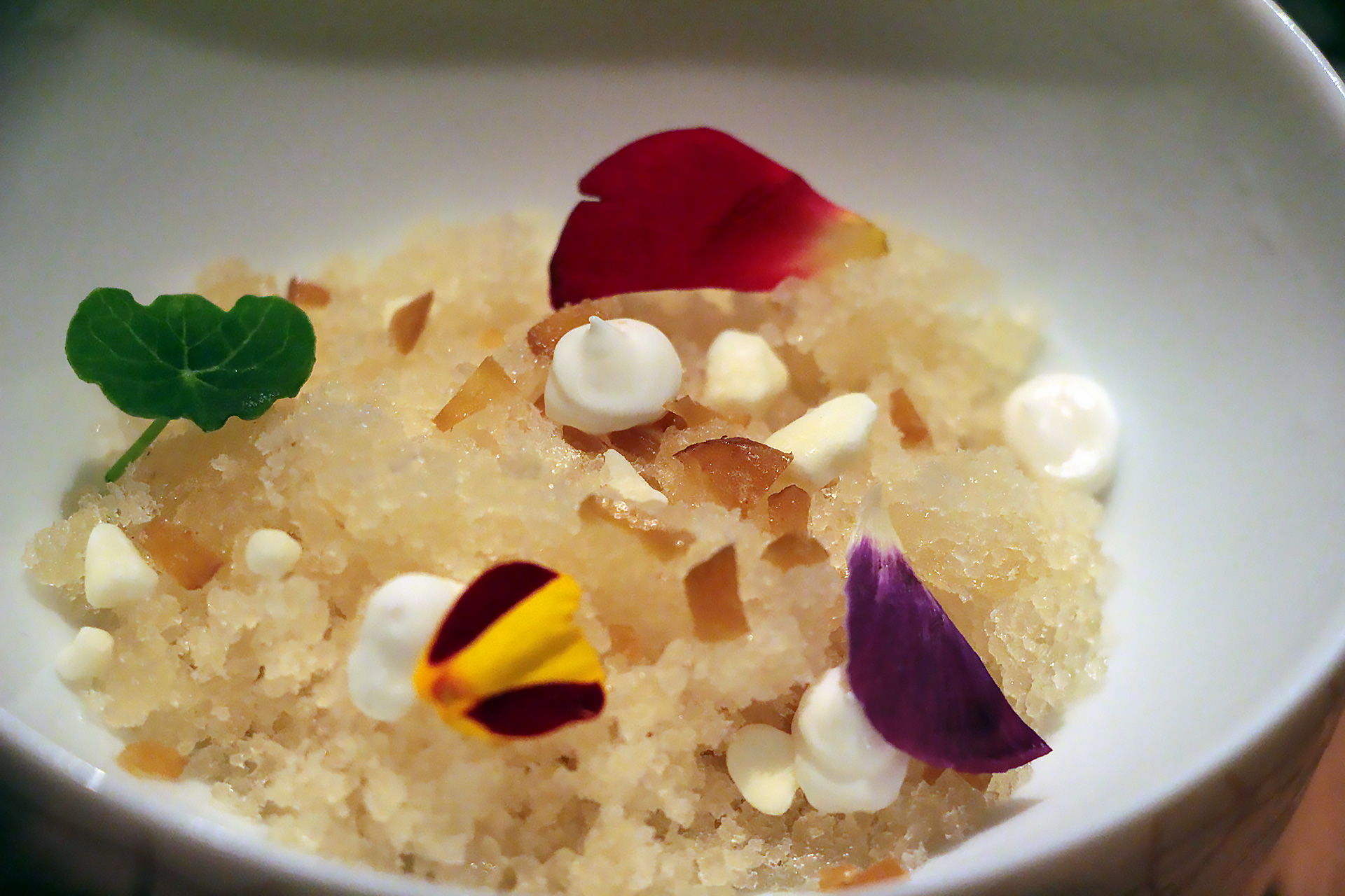 Chrysanthemum Granita - Yogurt, Preserved Plum