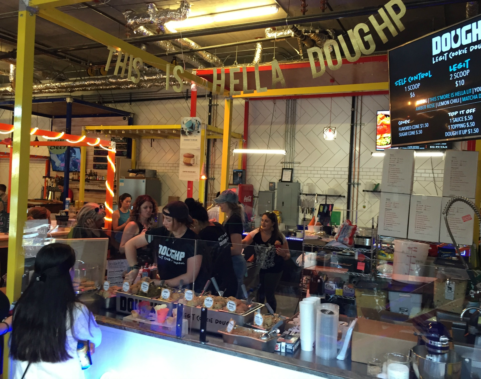 DOUGHP's kiosk at the Myriad.