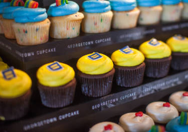 """Equality cupcakes"" by Georgetown Cupcakes are just one of several baked creations in support of same-sex marriage that were on display this week at the Chefs for Equality, a fundraising event for the Human Rights Campaign in Washington, D.C."
