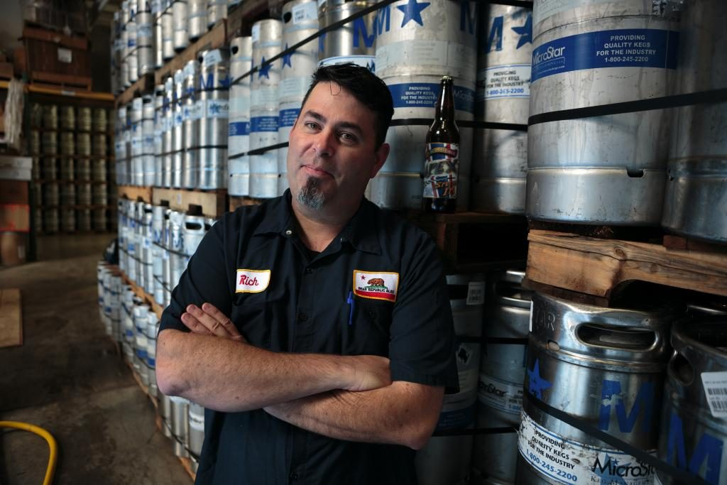 Richard Norgrove Jr., owner and master brewer at Bear Republic Brewing Company. Bear Republic has partnered with St. Florian's Brewery and 101 North to make collaborative beers under the Sonoma Pride label.