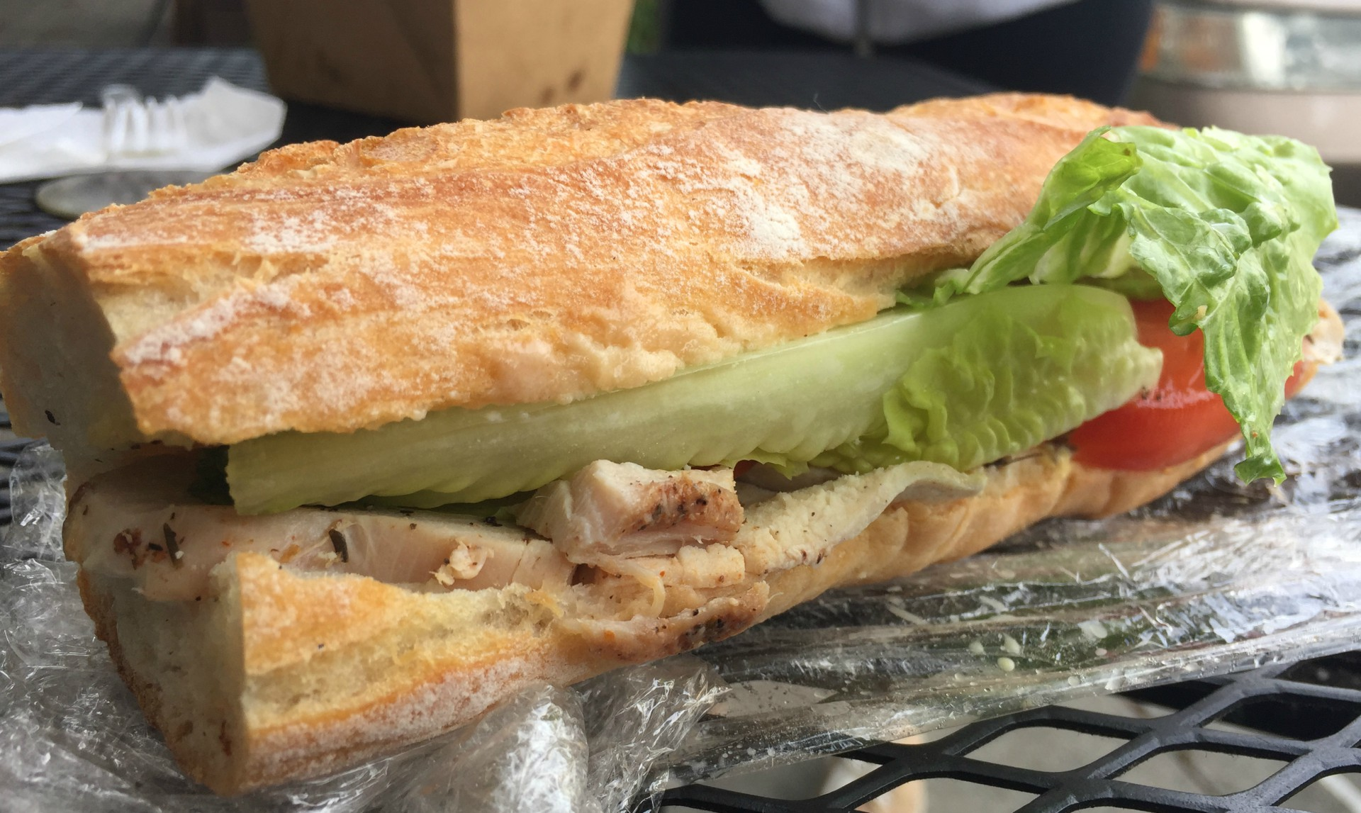 The turkey sandwich from the Juice Bar Collective.