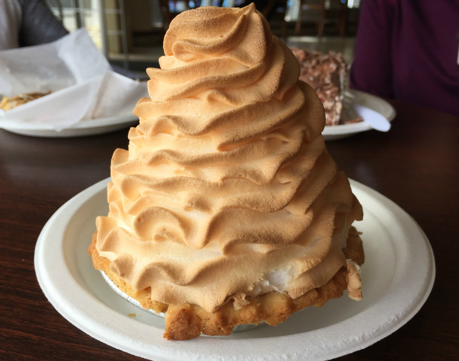 A lemon meringue tart from A Taste of Denmark.