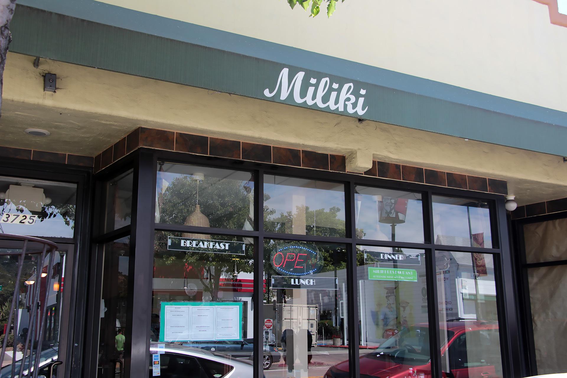 Miliki exterior on MacArthur Ave. in Oakland's Laurel district.