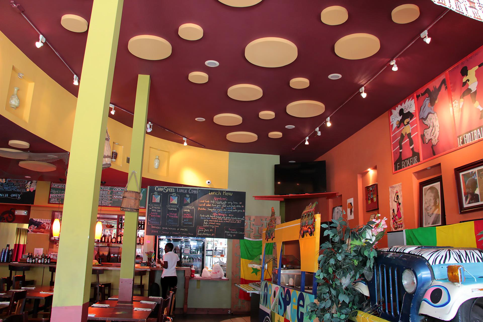 Bissap Baobab festive interior.