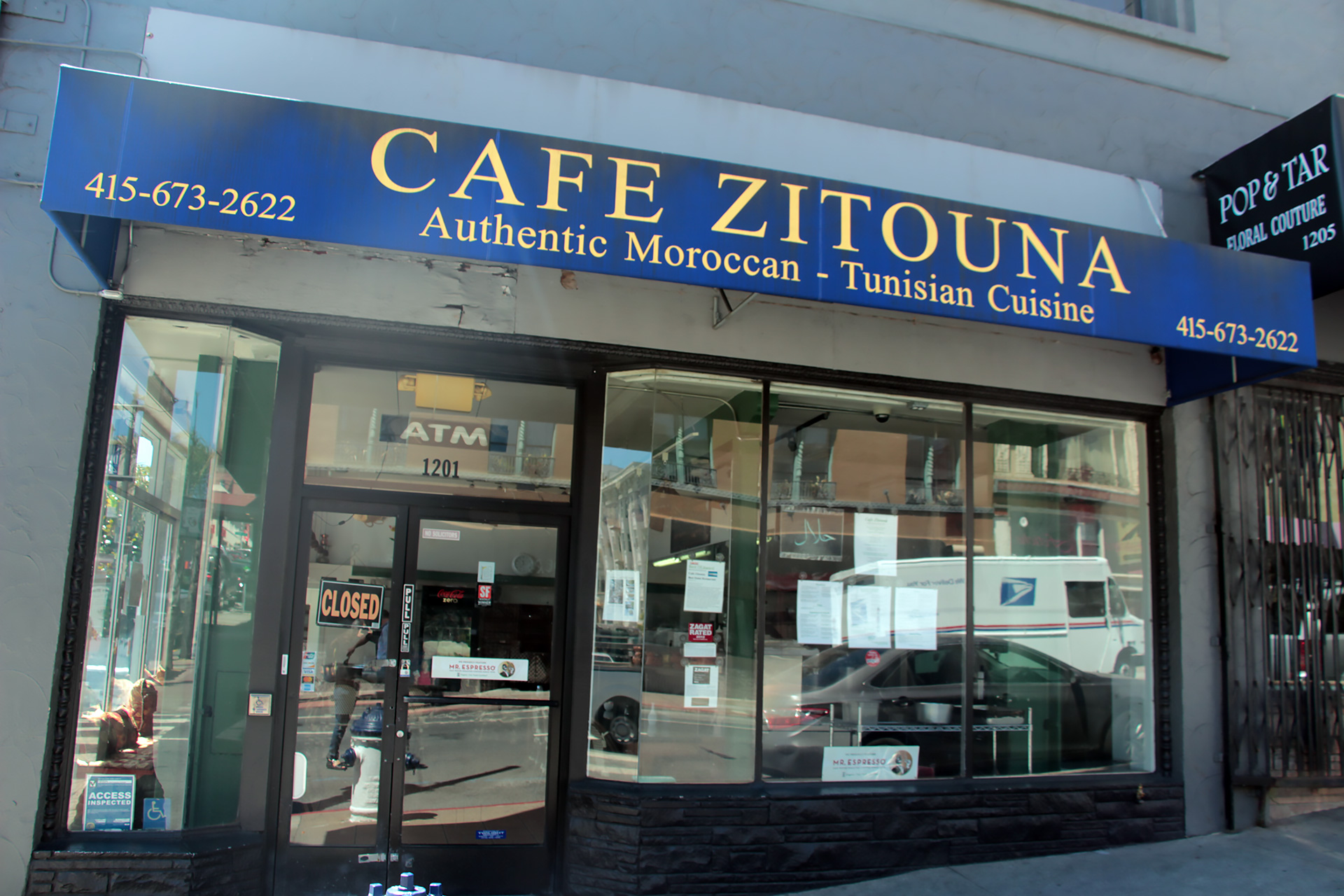Cafe Zitouna in San Francisco's Lower Nob Hill.