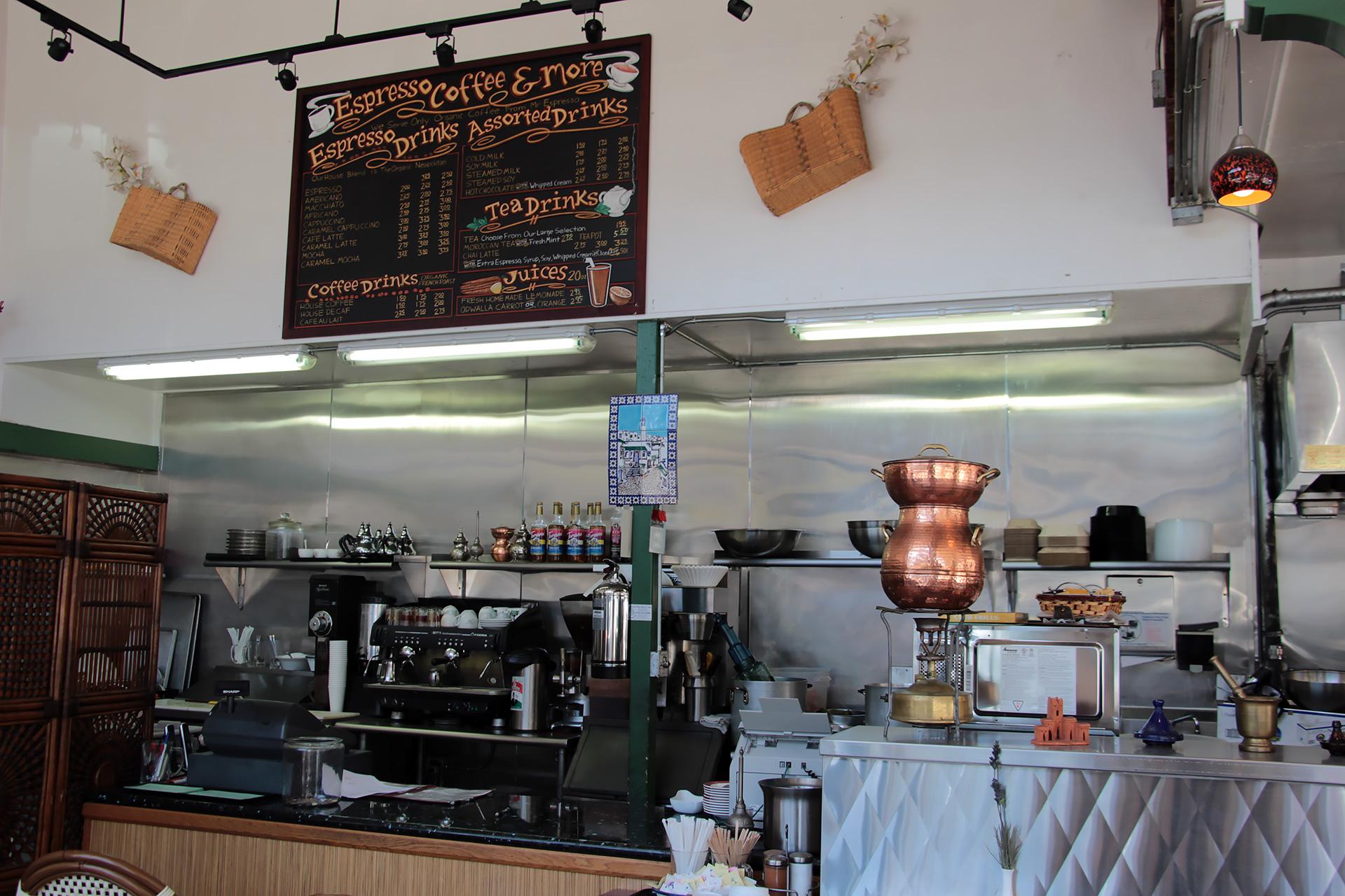 Cafe Zitouna beverage area.