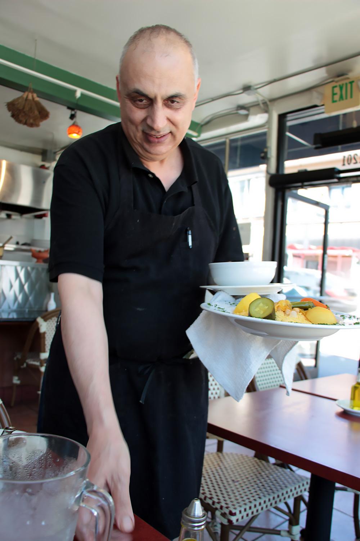 The owner of Cafe Zitouna, Najib Rebia.