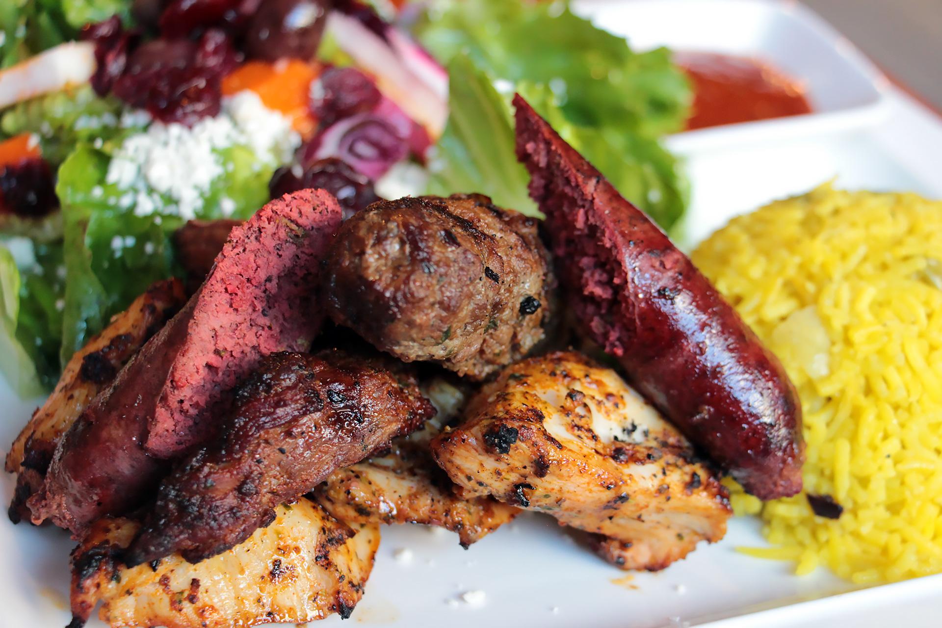 Royal kebab platter.