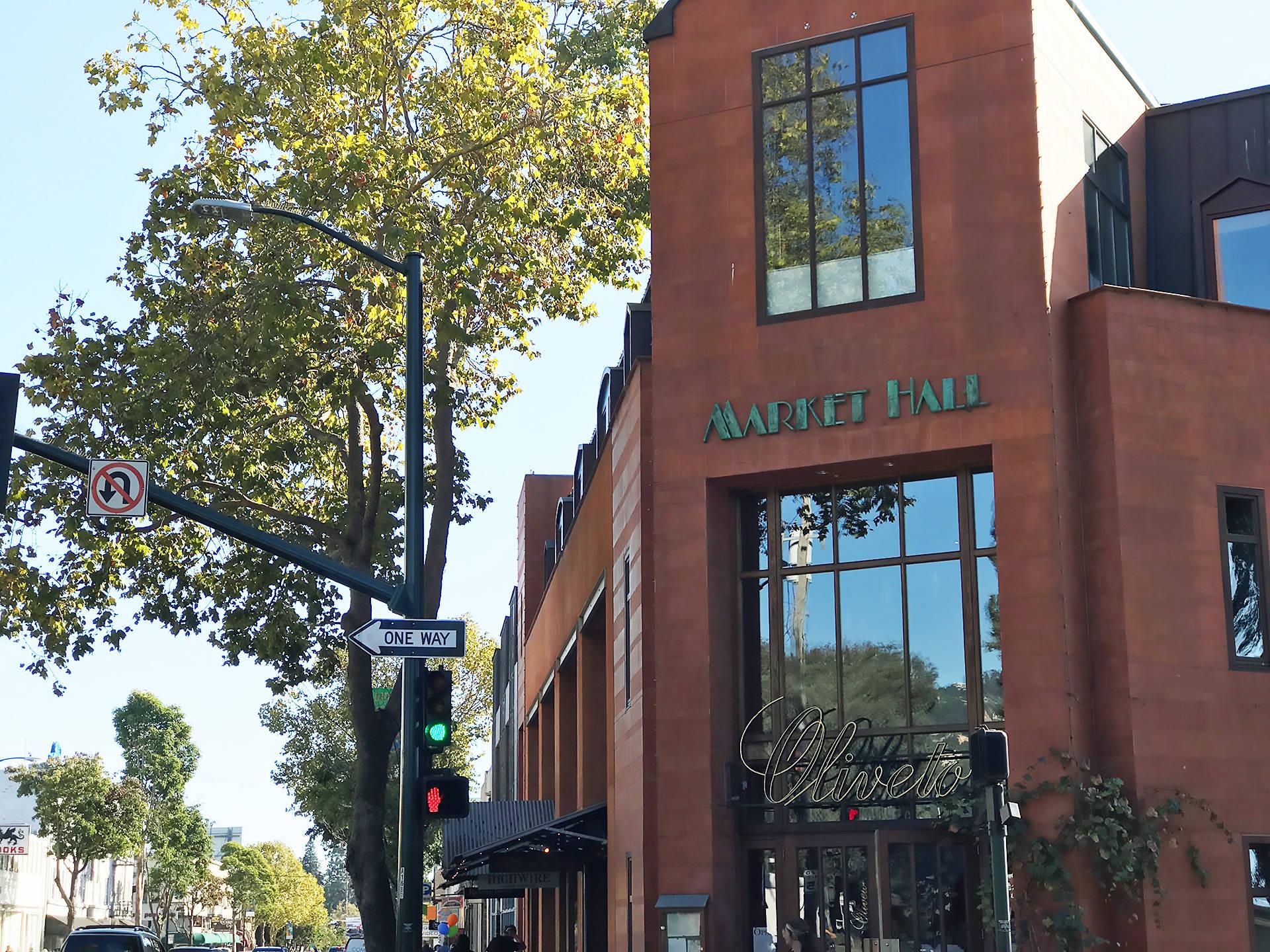 Exterior of Rockridge Market Hall on College Ave. in Oakland Kim Westerman