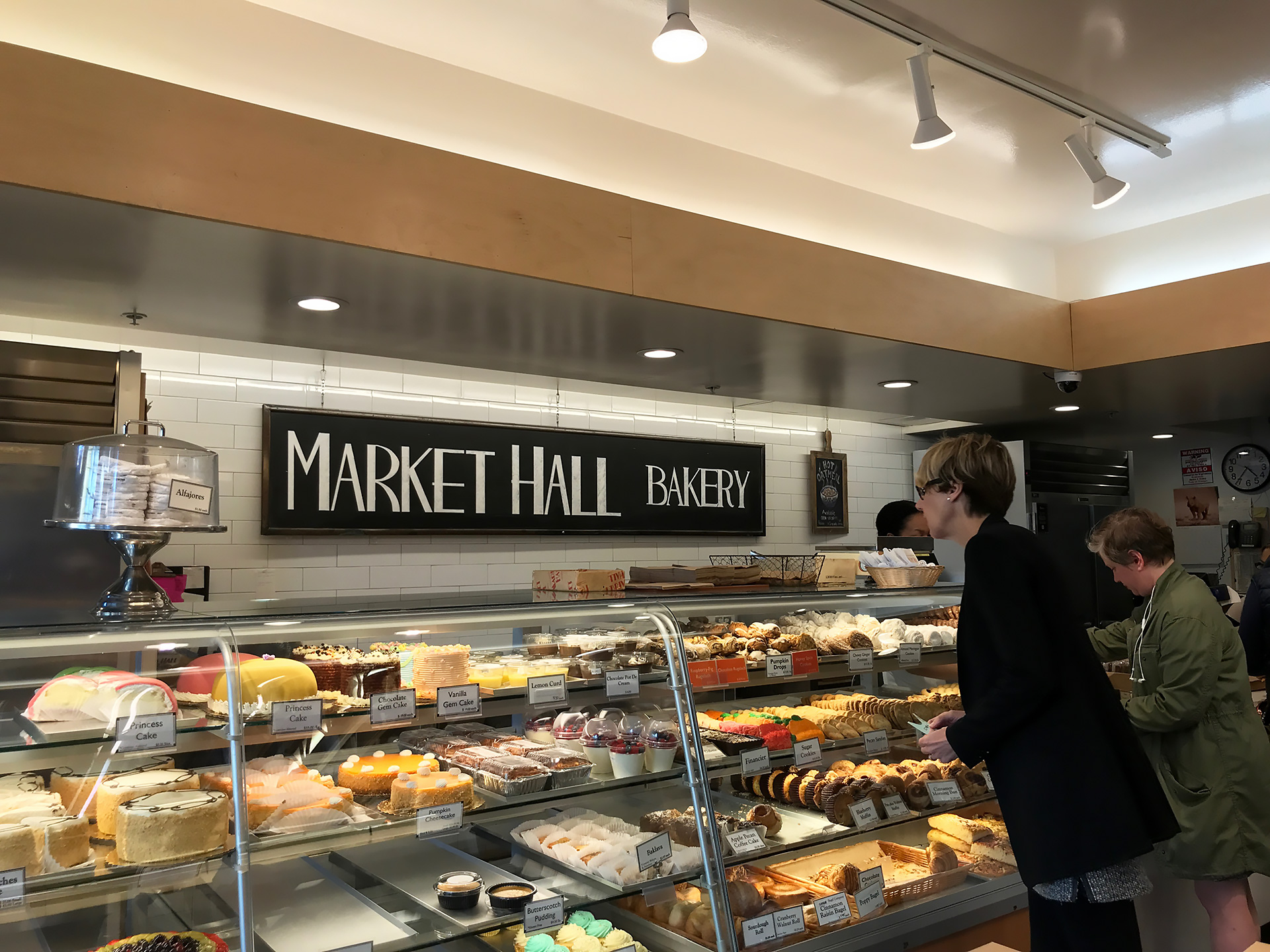 The always-hopping Market Hall Bakery.