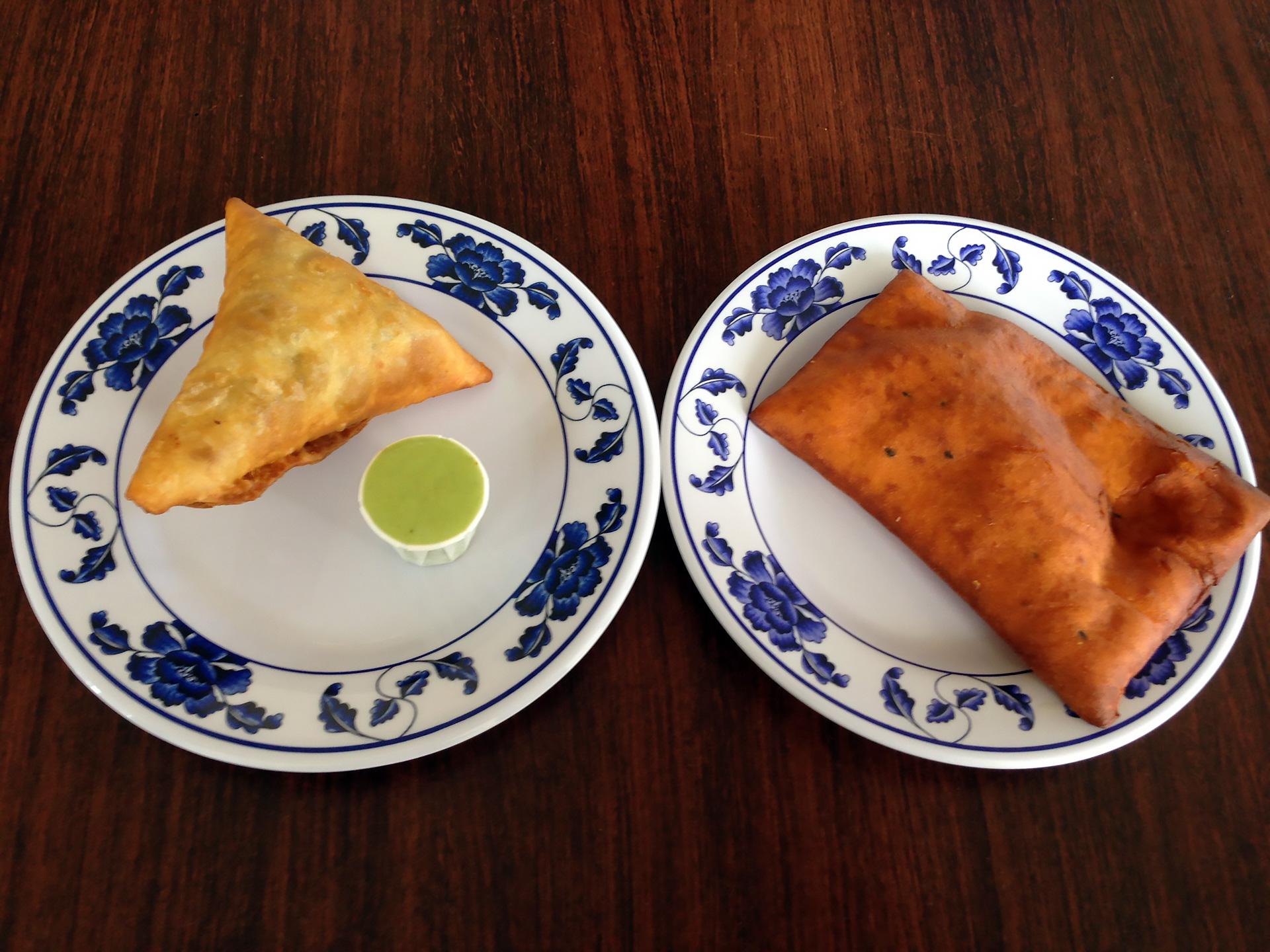 Sambusa and mandasi pastries at Jubba.